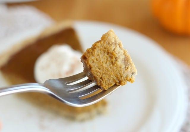 Lower sugar pumpkin pie with coconut milk
