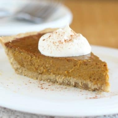 Healthy low sugar pumpkin pie recipe