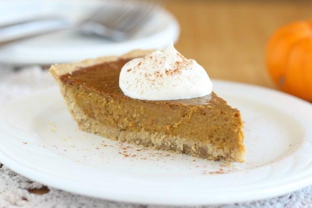 Healthy low sugar pumpkin pie recipe