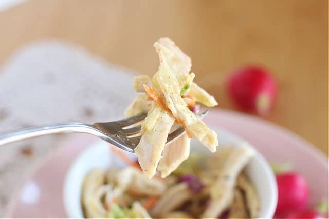 Homemade salad dressing with apple cider vinegar