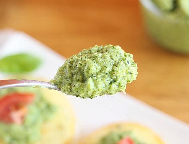 Broccoli basil pesto recipe with olive oil