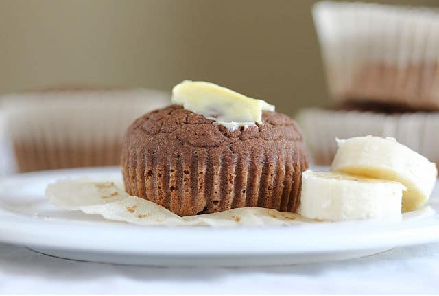 Healthy teff flour muffin recipe with banana